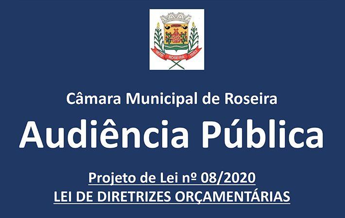 Audiência Pública – Projeto de Lei n°08/2020